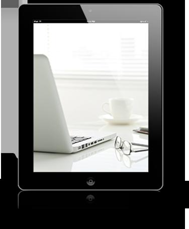 iPad con fotografia di un laptop